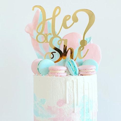 He or She? Cake Topper