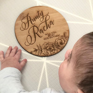 Circular birth announcement plaque.jpeg