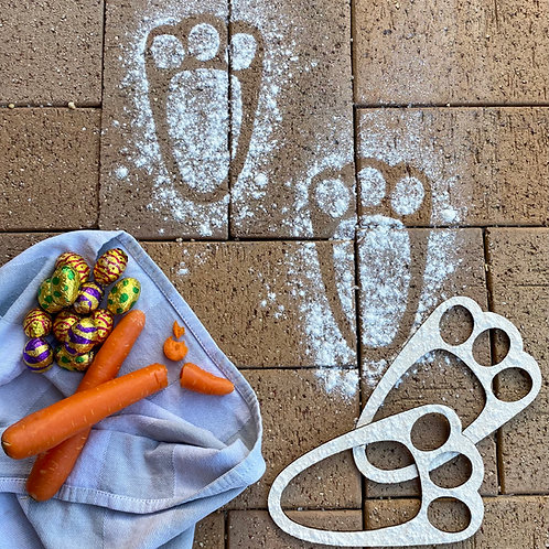 Santa Claus & Easter Bunny Footprint Stencils Bundle
