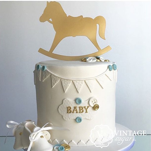 Rocking Horse Cake Topper