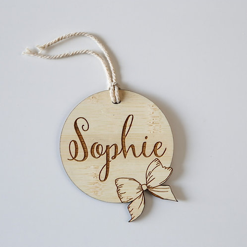 Bowtiful Personalised Bag Tag