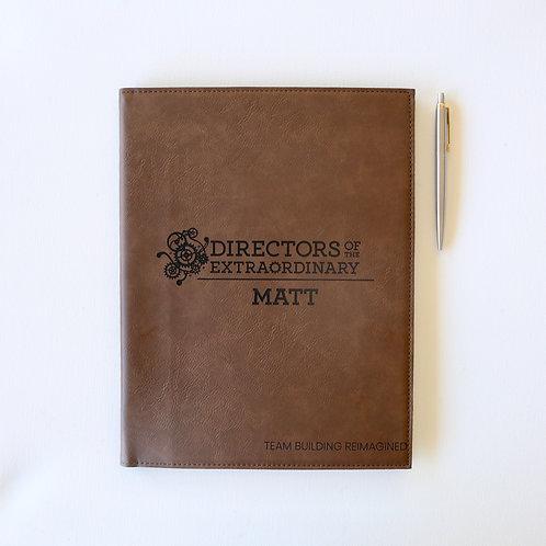 Large Personalised Leatherette Portfolio