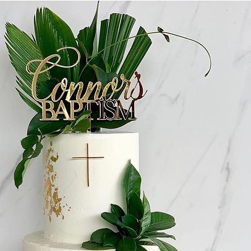 Baptism Personalised Cake Topper