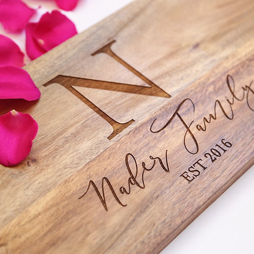 Family Initial Established Personalised Serving Board
