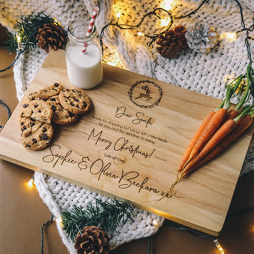 Christmas Eve Personalised Serving Board