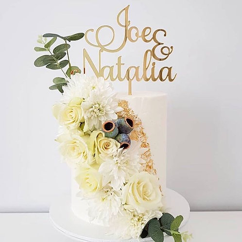 Double Name Personalised Cake Topper