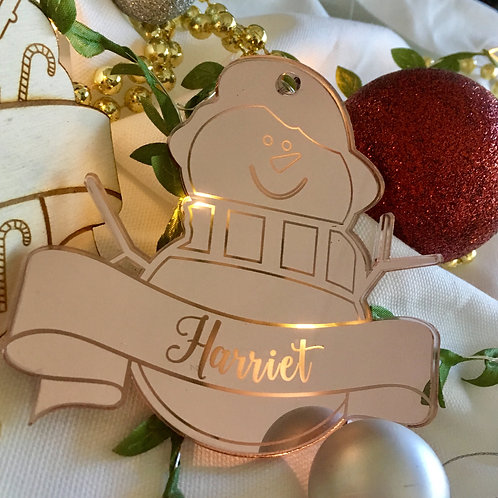 Little Snowman Personalised Ornament