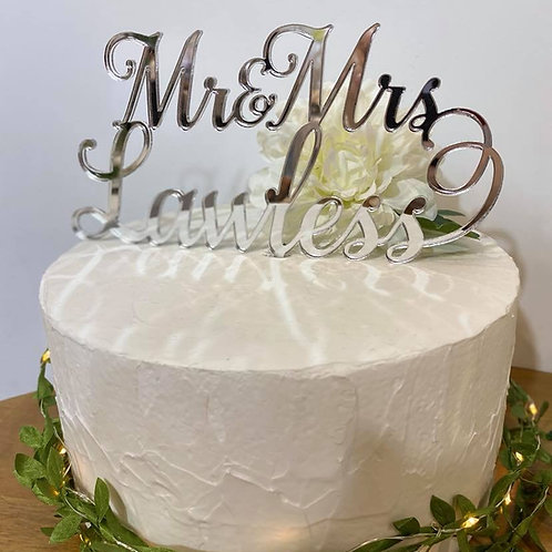 Mr/Mrs & Mr/Mrs Personalised Cake Topper