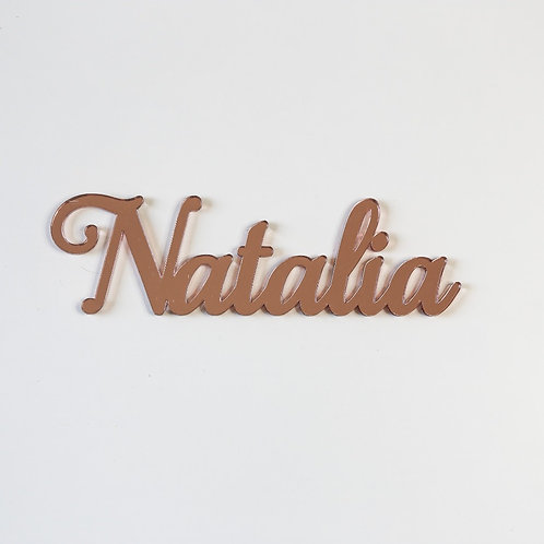 Small Name Cutout Plaque