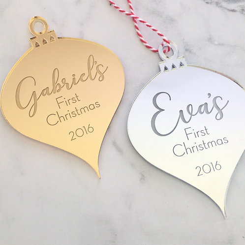 Baby's First Christmas Personalised Ornament