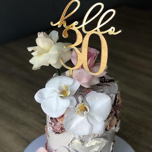 Hello Age Cake Topper