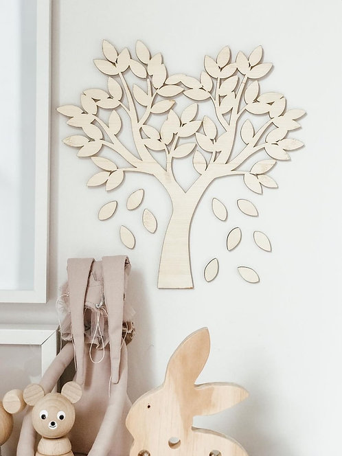 Falling Leaves Wall Plaque