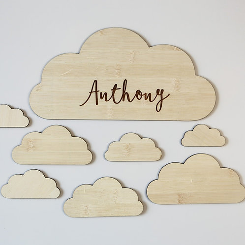 Clouds Personalised Wall Plaque