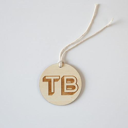 3D Monogram Personalised Bag Tag
