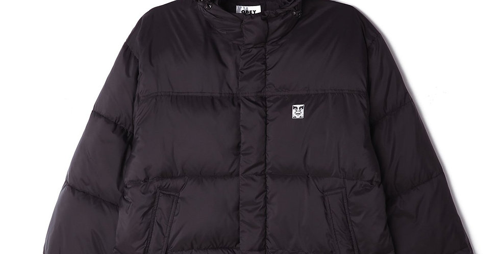 Obey Fellowship Puffer Black Jacket