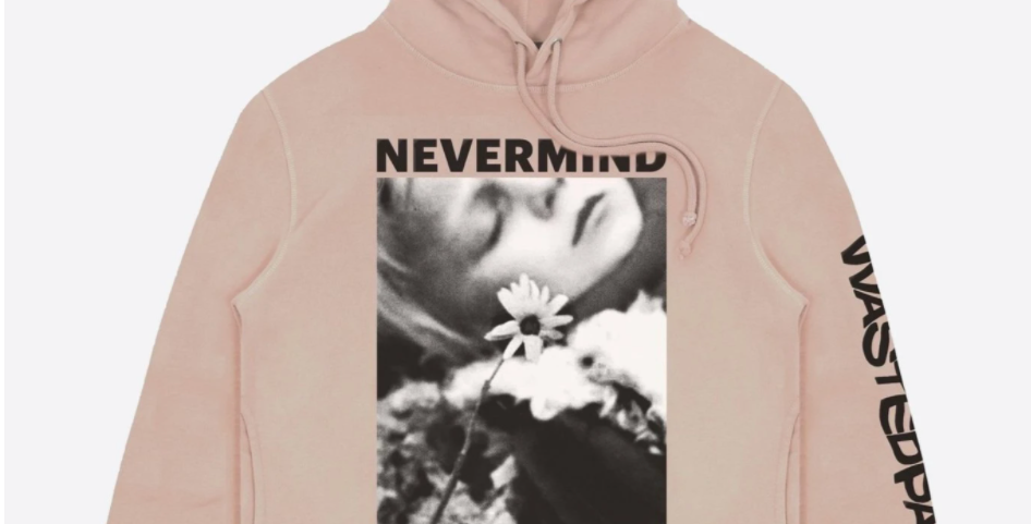 Wasted Paris Never Mind Up Clay Pink Hoodie