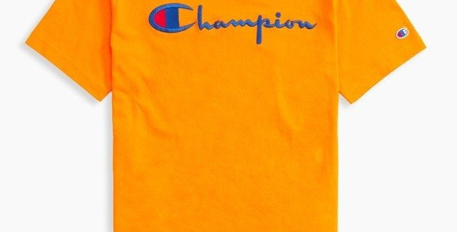 Champion Script Light Orange Tee