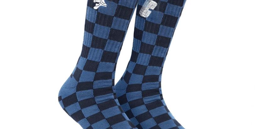 Chryste Football Soccer Navy Socks