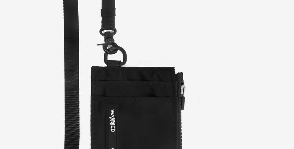 Wasted Paris Neck Wallet Black