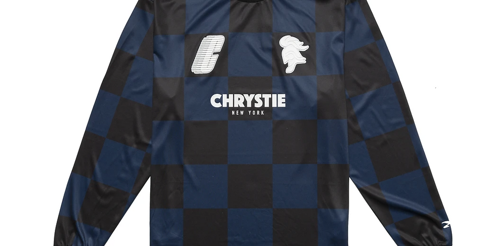 Chrystie Football Soccer Navy Jersey