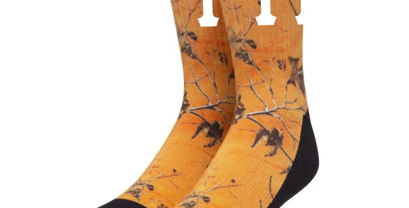 Huf Digital Tree Orange Socks