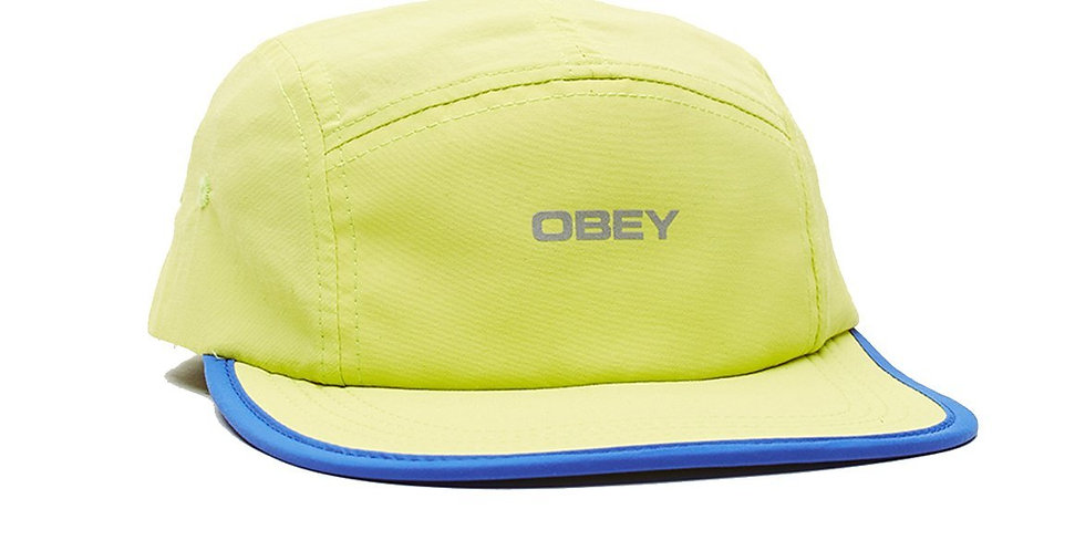 Obey Upperground 5 panel Lime Hat