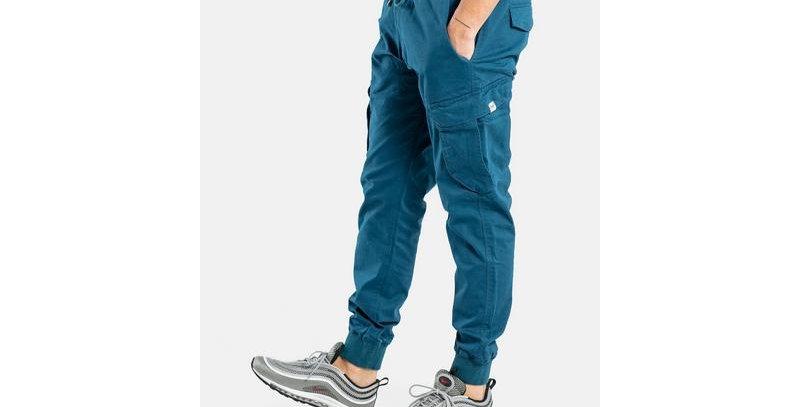 Reflex Rib Cargo Petrol Blue Pant