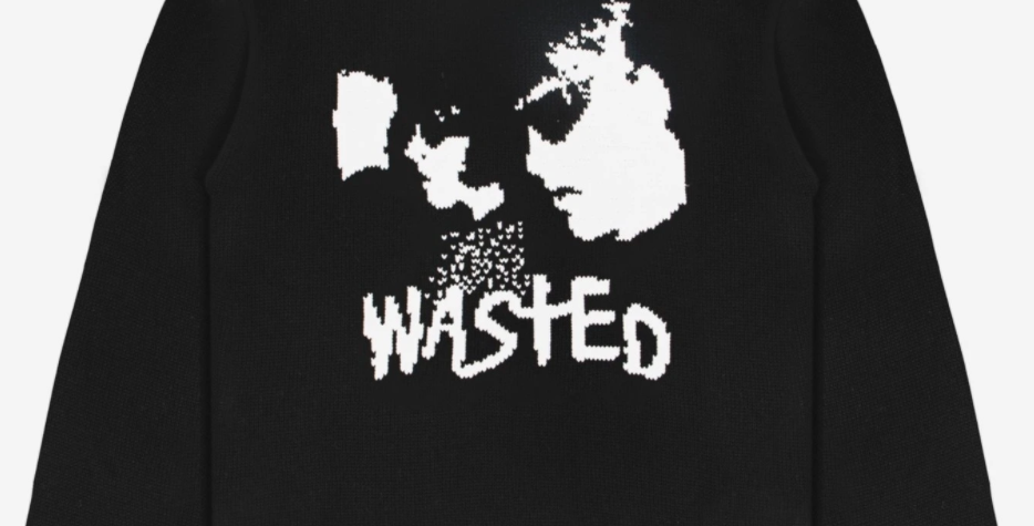 Wasted Paris Youth Black Knit Sweater