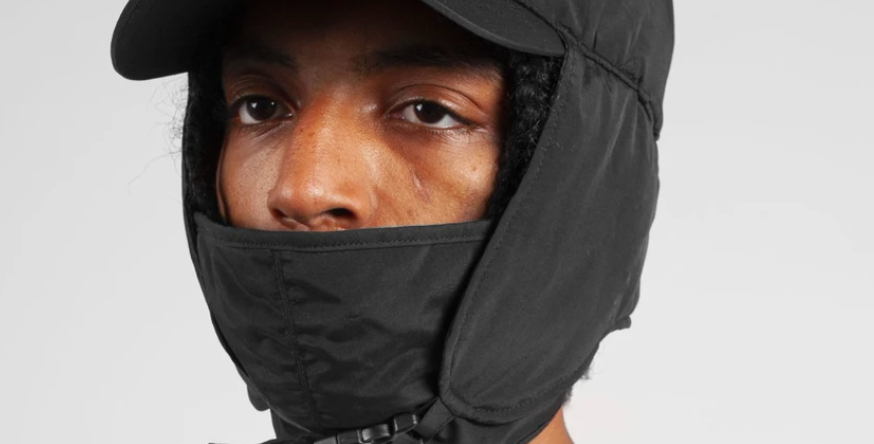 Wasted Paris Trapper Cap With Mask Black