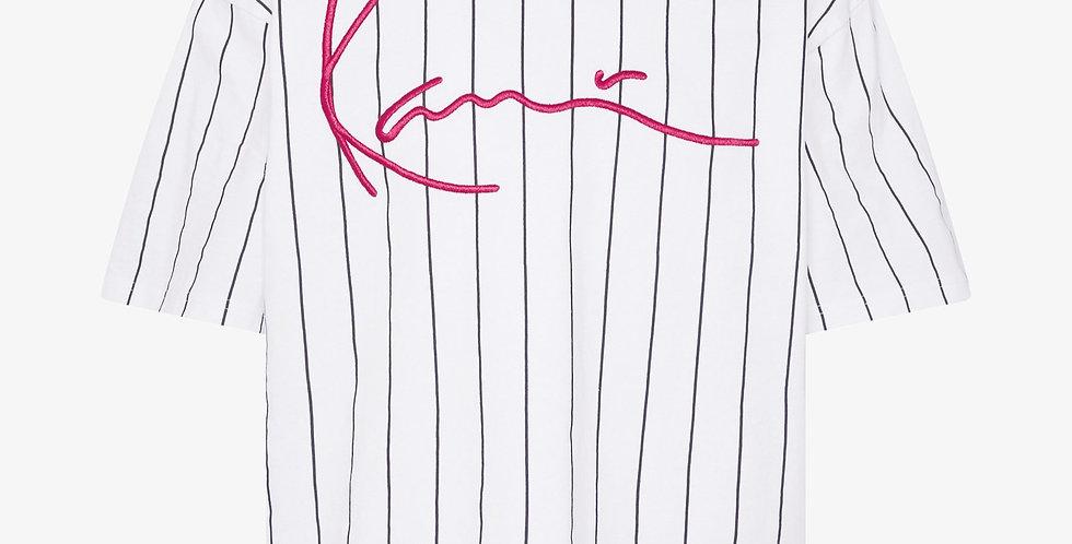 Karl Kani Signature Striped Tee White
