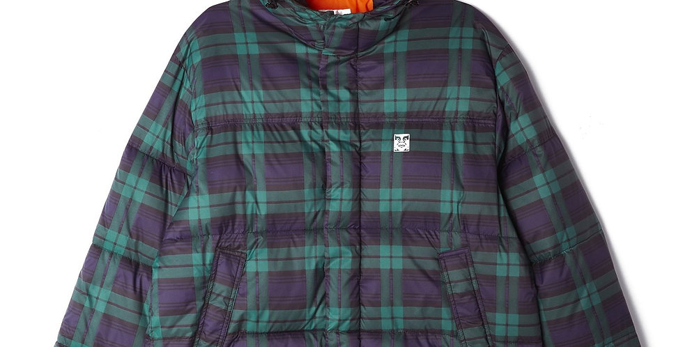 Obey Fellowship Puffer Navy Multi Jacket