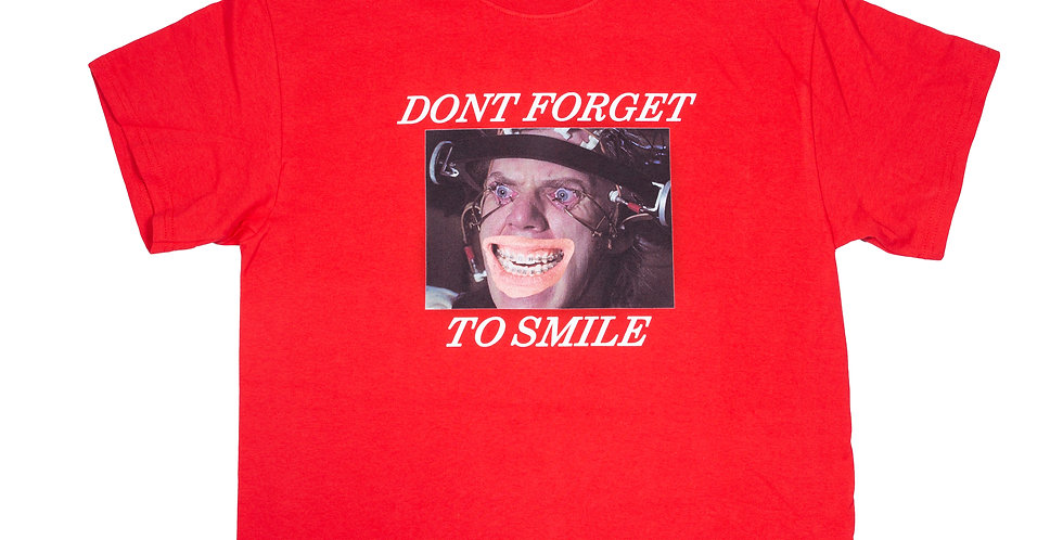Frev Don't Forget to Smile Red Tee