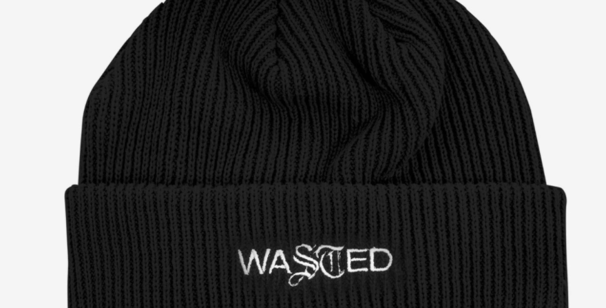 Wasted Paris Sailor Beanie Signature Black