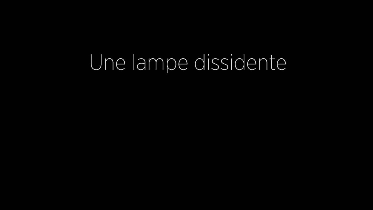 Une lampe dissidente – Court métrage 3D