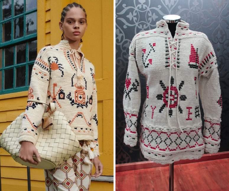 Estilista americana copia camisola poveira. Quando aprenderá o português a valorizar o artesanato que tem, antes de o perder?