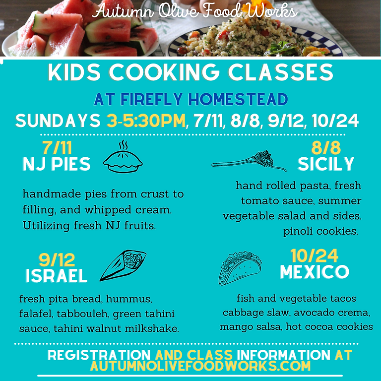 8/8 Sicily Kids Cooking at Firefly Homestead for Chapin School Kids