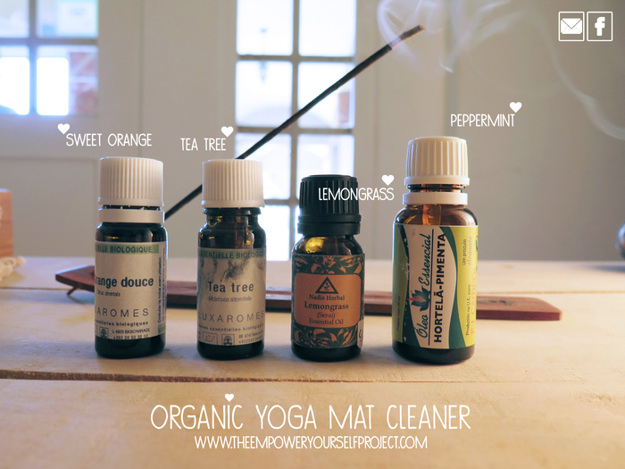 DIY Natural & Organic Yoga Mat Cleaner