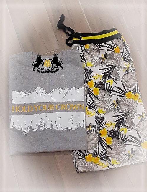 Tropical Print Short set
