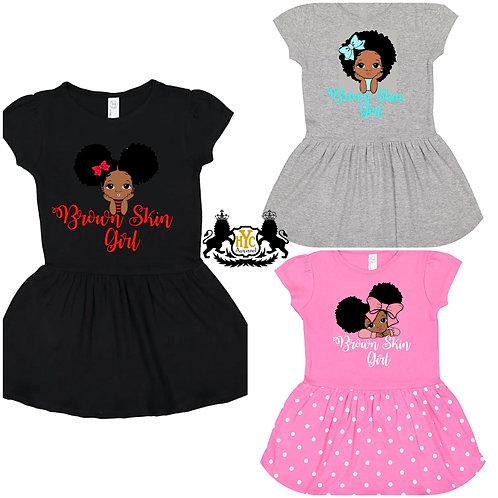 Brown Skin Girl Toddler Dress