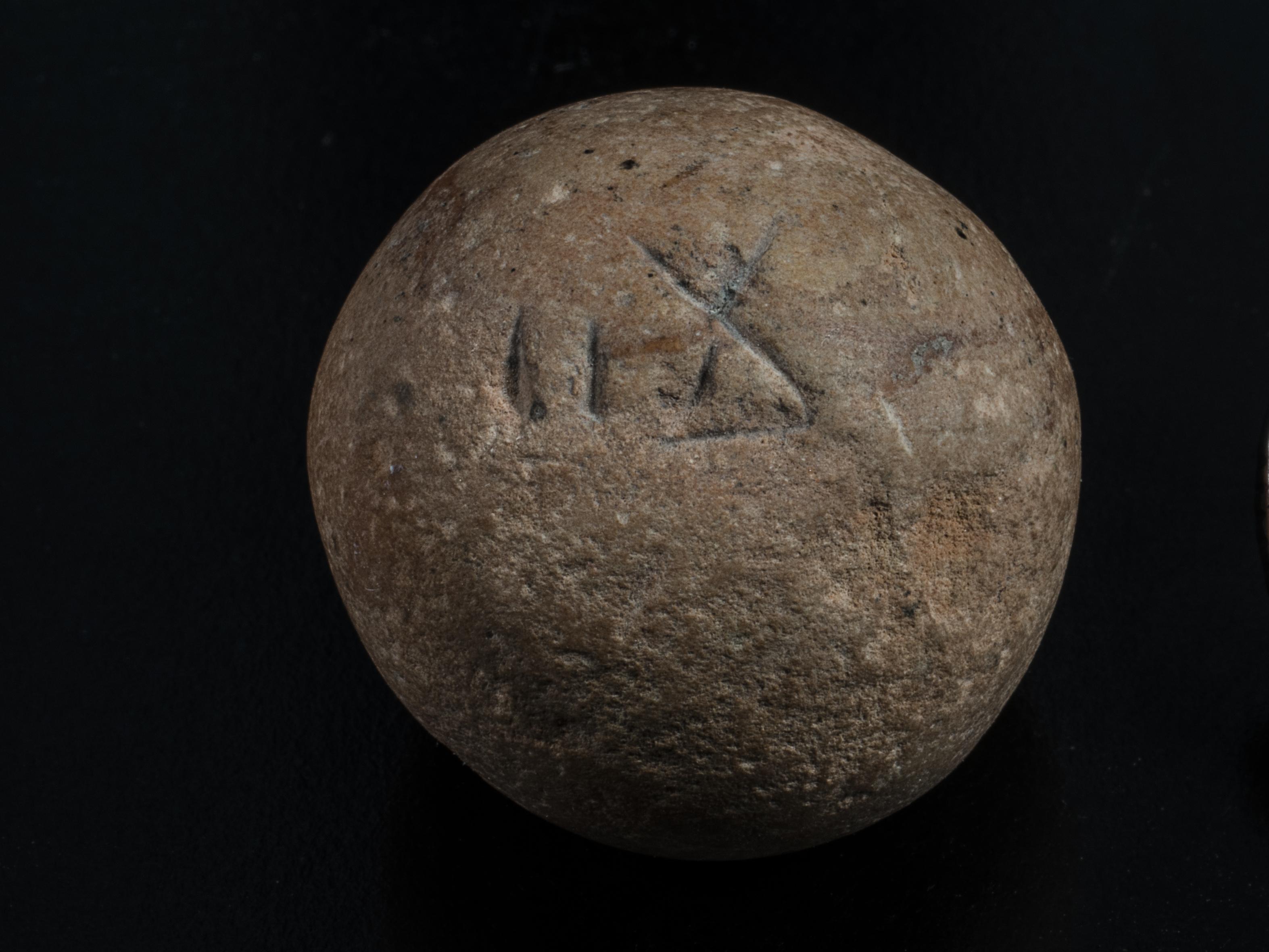 Ancient Two Shekel Weight, Photo: Shai Halevi, Israeli Antiquities Authority