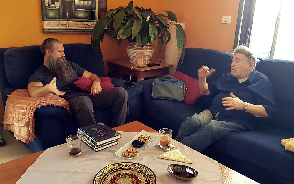 Tamir and Shaul discussing End Time Dynamics at our home in Jerusalem