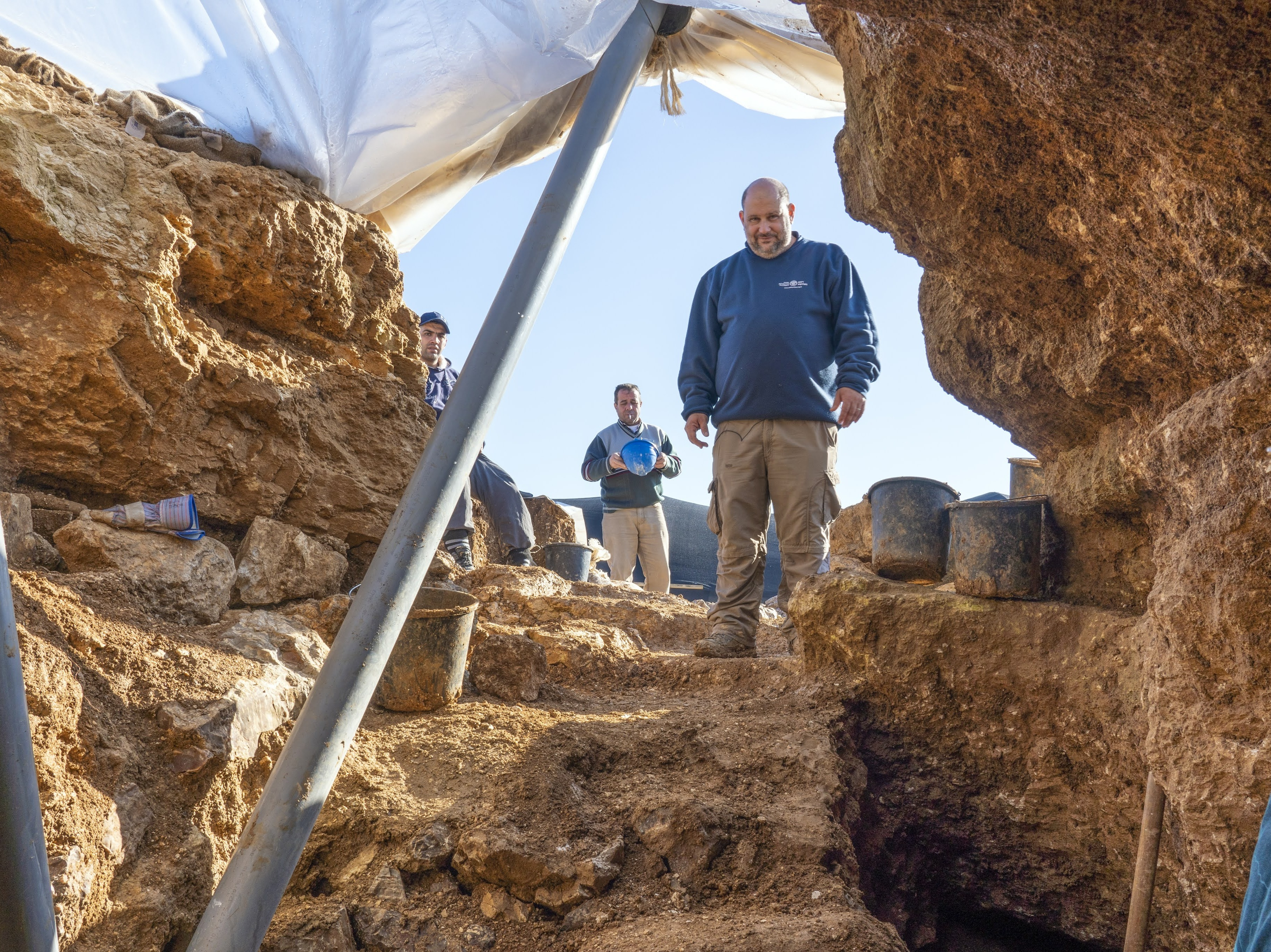 Nathan Ben-Ari, Israel Antiquities Authority archaeologist at the Excavation Site.
