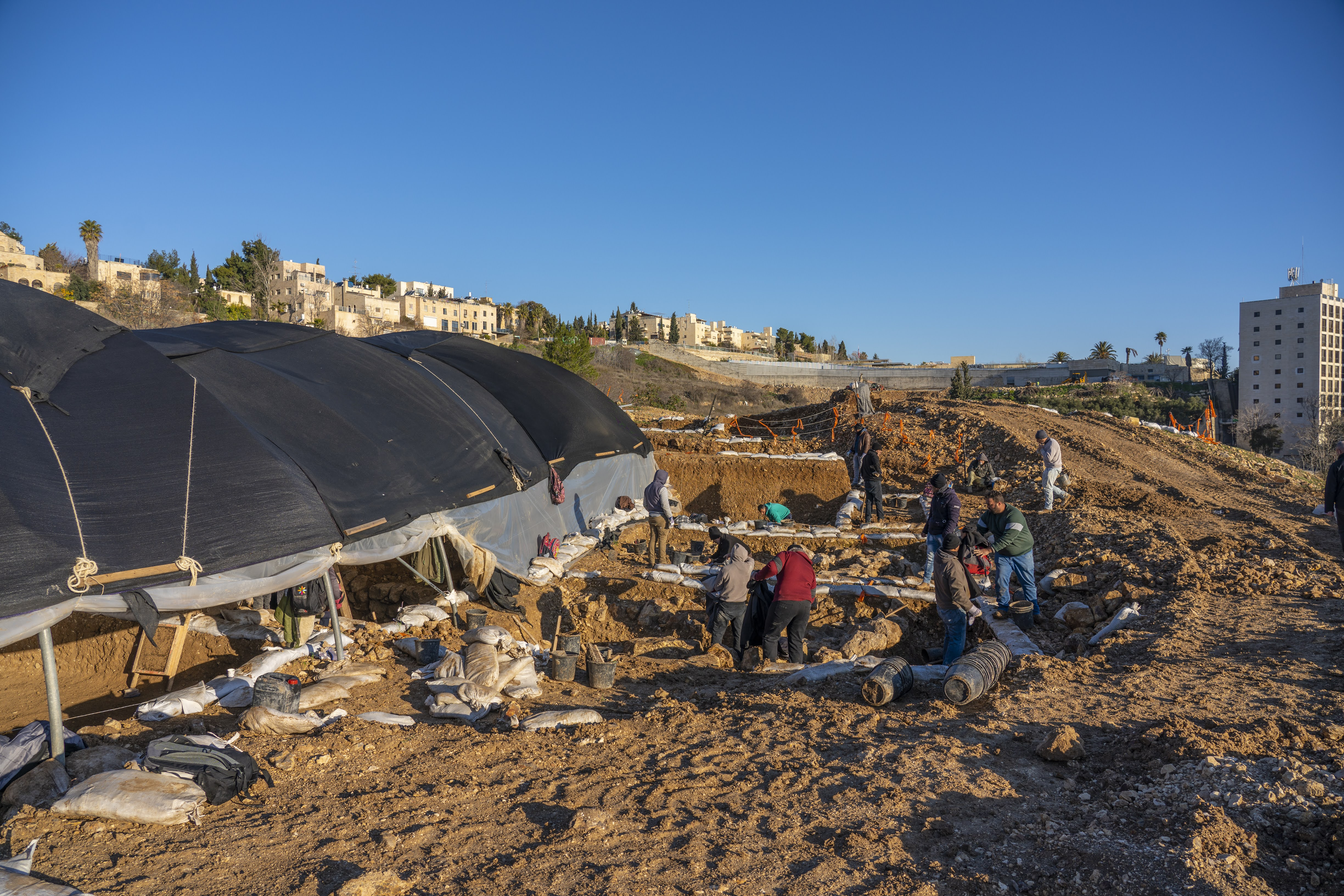 Israel Antiquities Authority Excavation on the Slopes of Arnona
