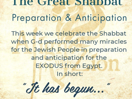 The Great Shabbat