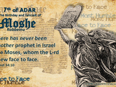 7 Adar - Birthday and Yahrzeit of Moshe Rabbeinu