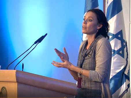 AnaRina Heymann at the Temple Mount 18 Conference