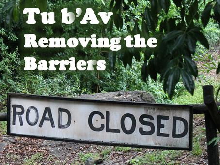 Tu b'AV - Removing the Barriers