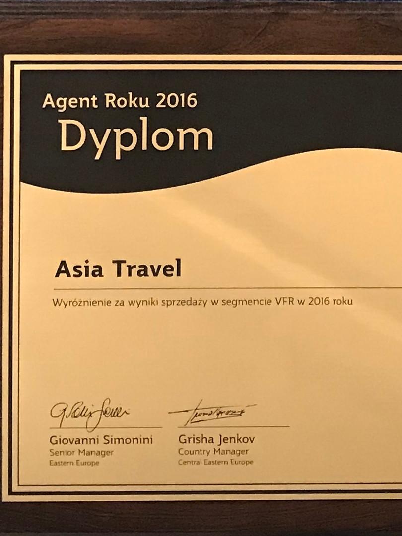 Qatar Airways - Agent Roku 2016