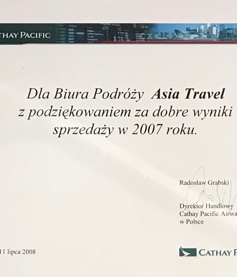 Cathay Cacific 2007