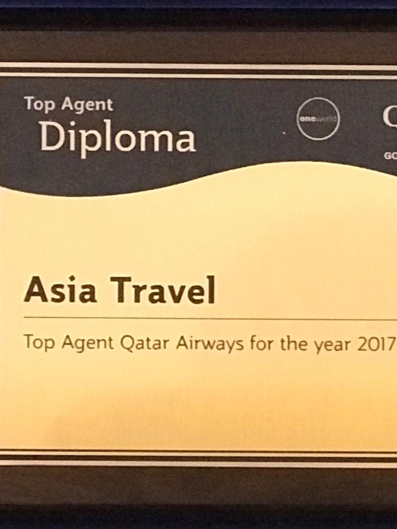 Top Agent 2017 - Qatar Airways